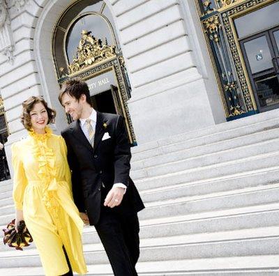 wedding dazed City Hall Romance