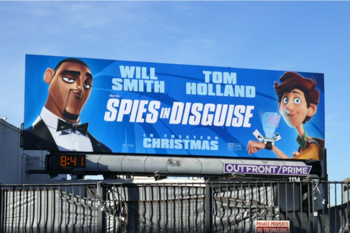Spies in Disguise movie billboard