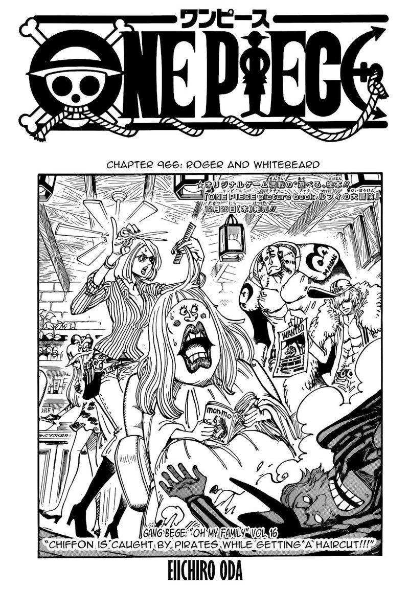 One Piece Manga Chapter 966 - Image 001
