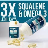 Minyak Hati Ikan Squalene Fish Liver Oil Omega Squa SQUAVIT 40 Softgel Murah