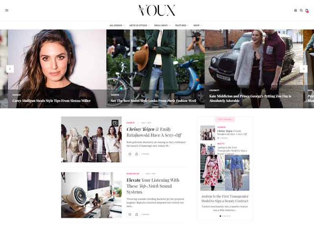 The Voux - A Comprehensive Magazine WordPress Theme
