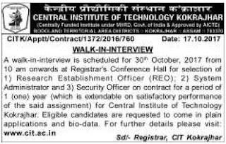 CIT Kokrajhar Recruitment