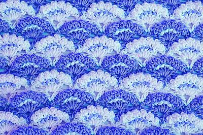 4 - Crochet Imagen Puntada a crochet de abanicos a relieve por Majovel Crochet