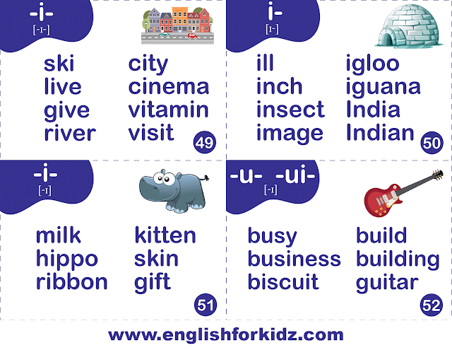 Printable phonics flashcards