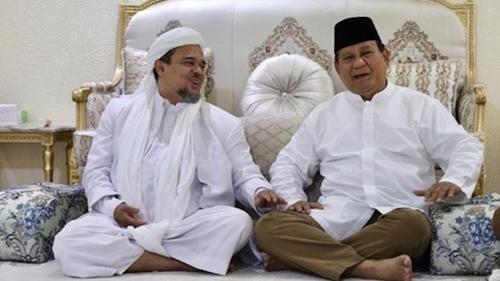 Prabowo Harus Balas Budi Baik Habib Rizieq Shihab saat Pilpres