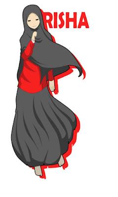 kartun gambar muslimah cantik berjilbab