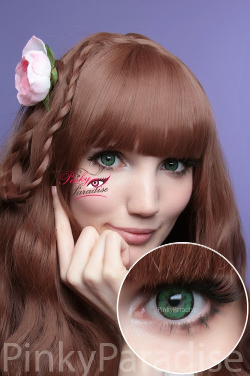EOS Big Flower Green Circle Lenses (Colored Contacts)