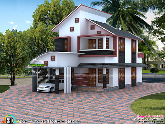 1535 sq-ft modern home architecture