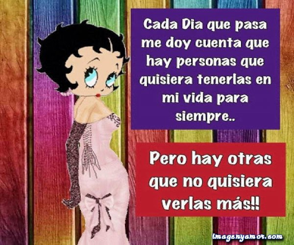 Betty boop con frases