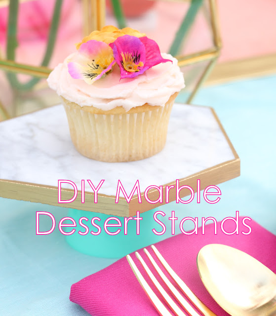 Easy DIY Marble Dessert Stands for under $5 using Plastic Easter Eggs