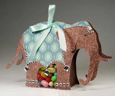 Caja con forma de elefante
