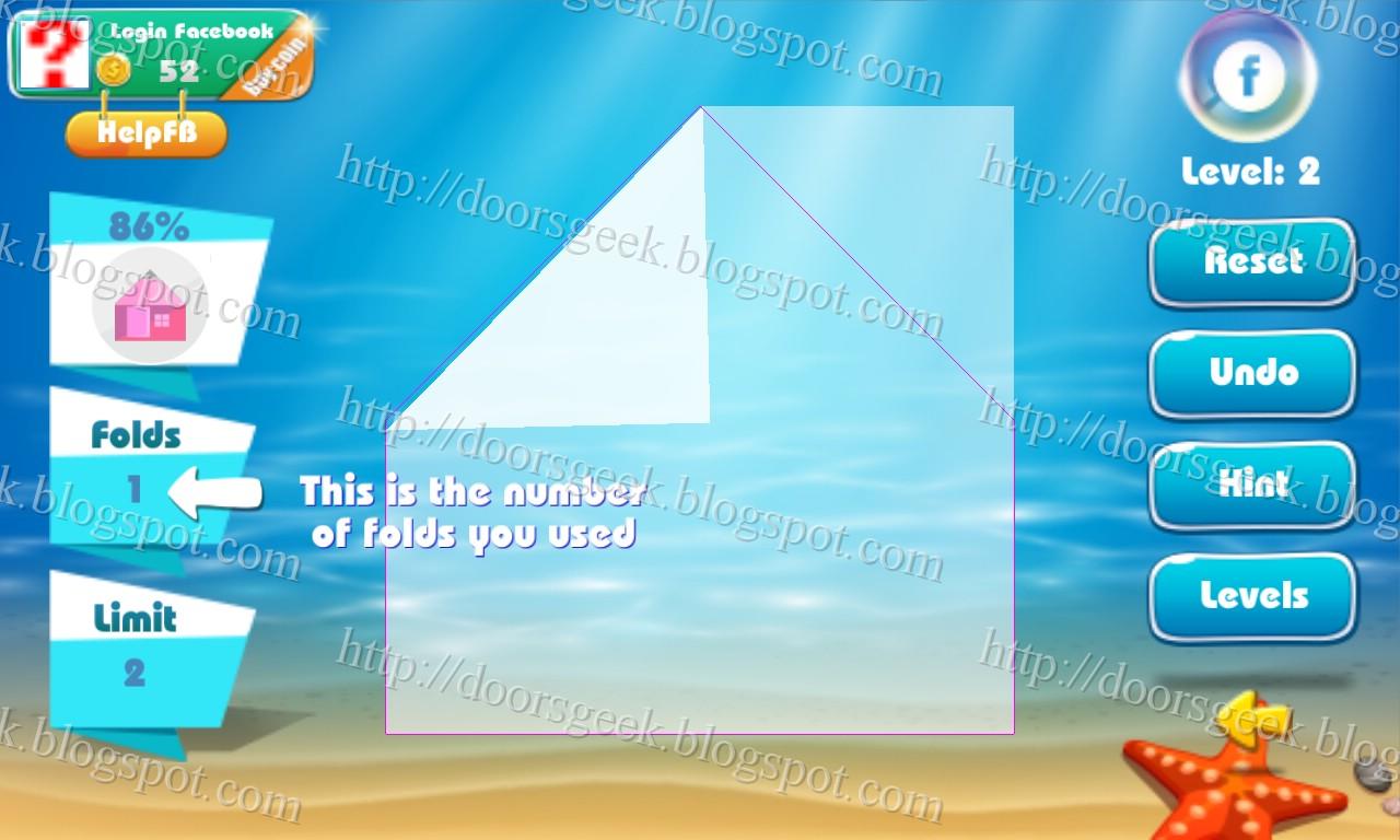 Paper Folding - Origami Level 2 Solution ~ Doors Geek - photo#13