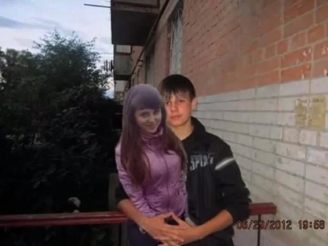 O pior disso é a foto original em que o garoto aparece apenas colocando os braços mais abertos e depois coloca a menina