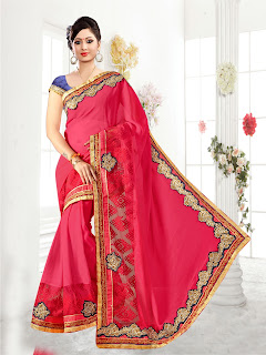 Kavya- Designer Beautiful Heavy Stylish Georgette Saree
