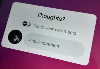 Sticker Comment Instagram Tidak Muncul