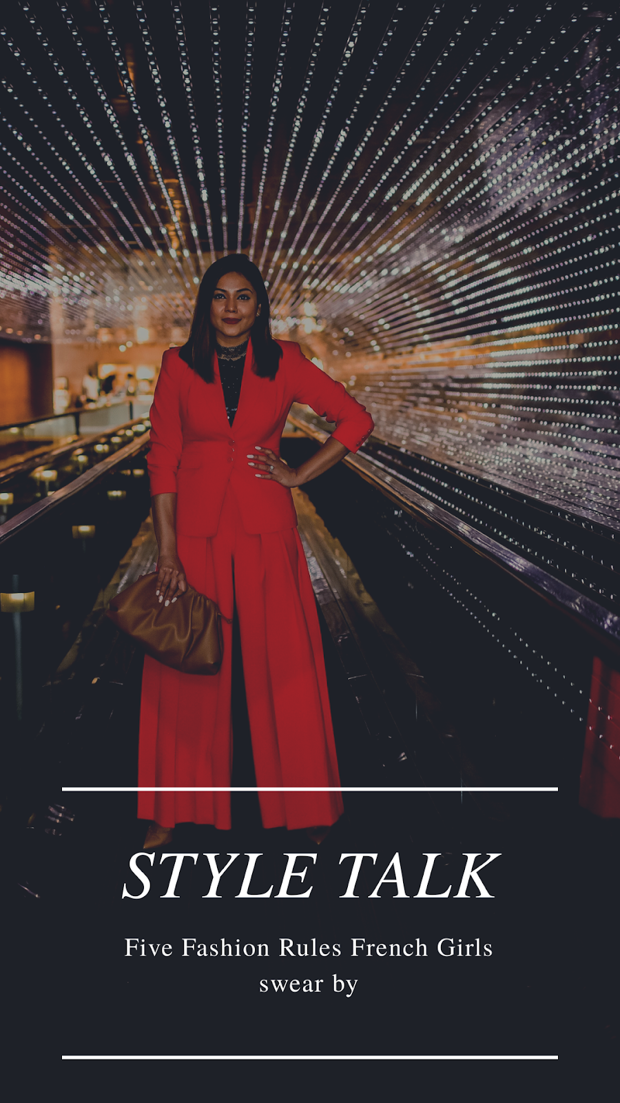 red pant suit, wide leg pant suit, pleated pants and blazer set, red outfit, steve madden vale pumps. bottega bag, brown bag, DC national gallery of art, fashion, fall fashion, office look, french style, myriad musings, saumya shiohare
