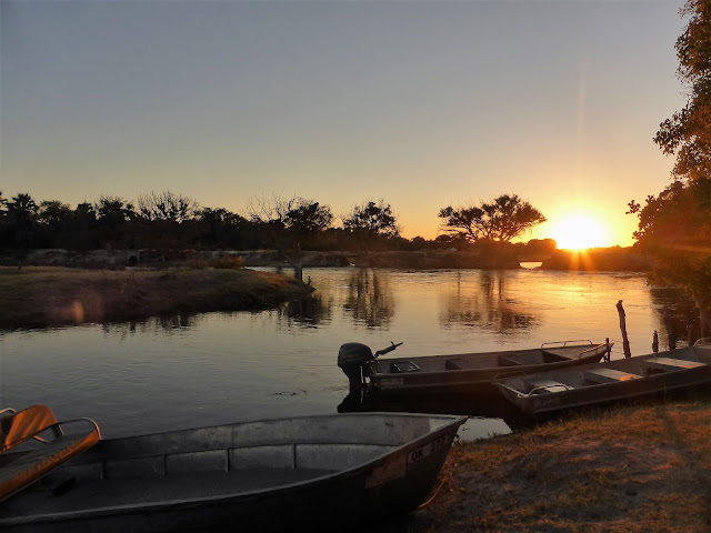 Atardecer en el Delta del Okawango