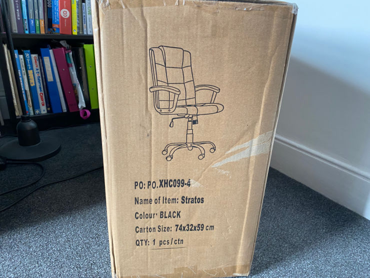 chair in box