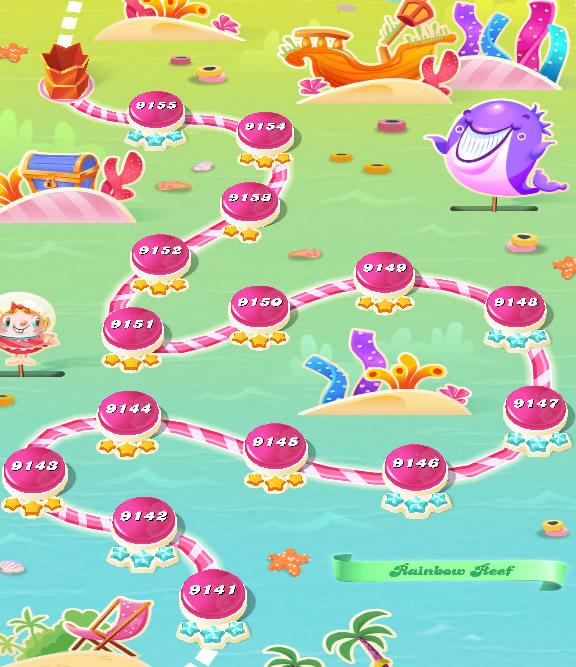 Candy Crush Saga level 9141-9155