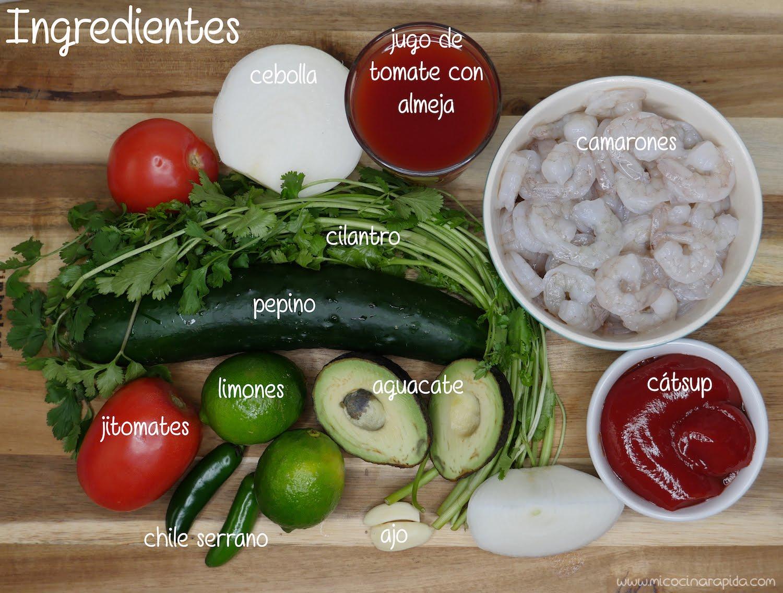 C ctel de camar n mi cocina r pida for Coctel con zumo de tomate