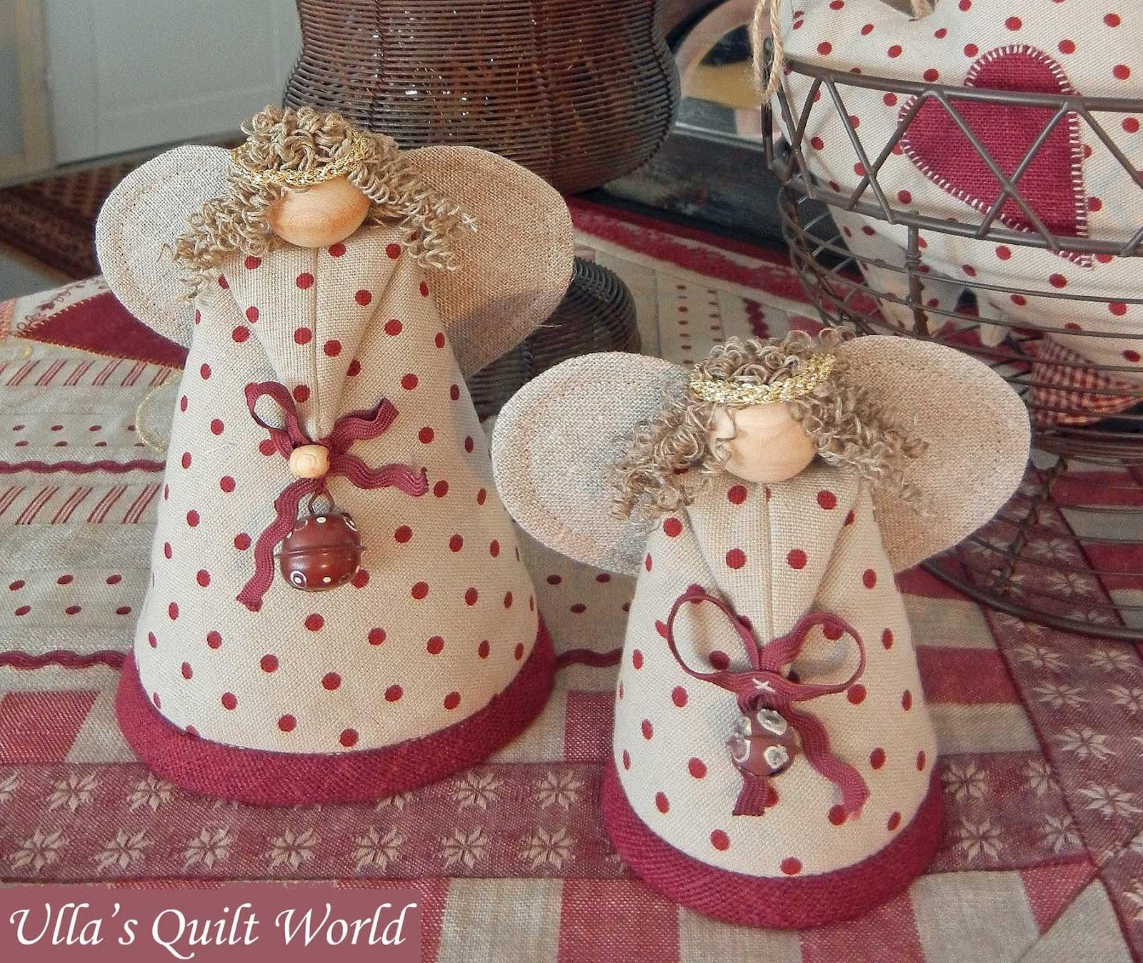 Bebekler Noel Dikiş Tekstil Melekler Desen Kumaş Fotoğraf 2 ile