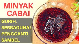 RESEP MINYAK CABAI (CHILLI OIL)
