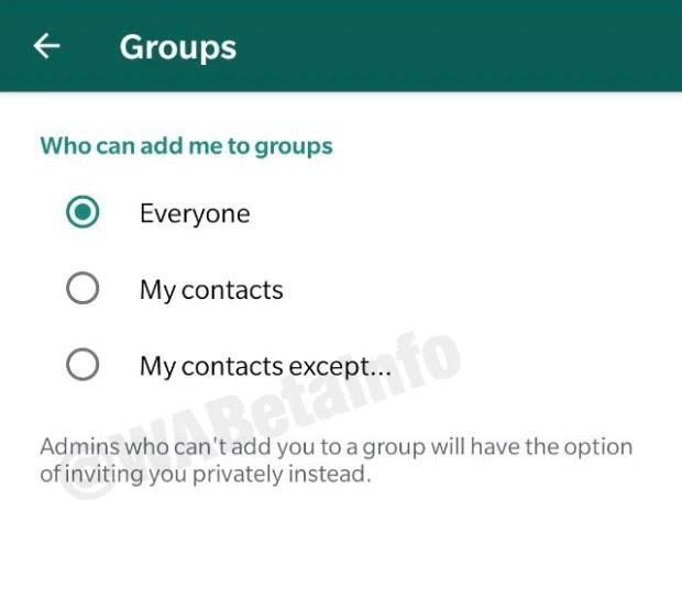 privacidad de grupos whatsapp