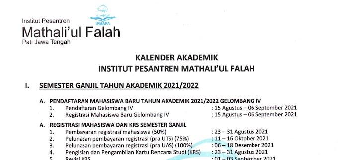 Kalender Akademik TA 2021/2022 (Ganjil dan Genap)