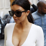 Kim Kardashian   Hot Huge Cleavage Show Photos in Paris