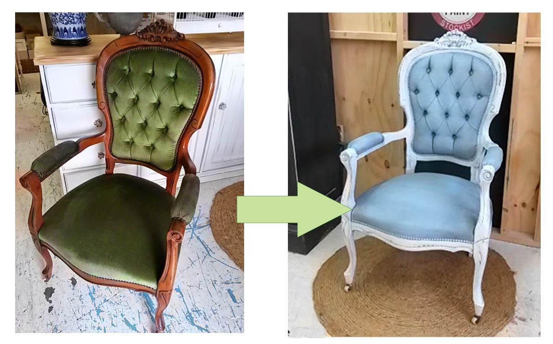 C mo pintar las telas y tapizados de sillas y sillones - Tela para sillas ...