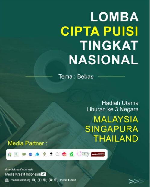 Lomba Cipta Puisi Nasional 2020 oleh Media Kreatif