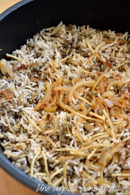 Kosheri (riz et lentilles) de Yotam Ottolenghi cook book