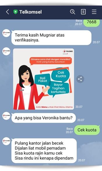 Kelebihan layanan maya Veronika