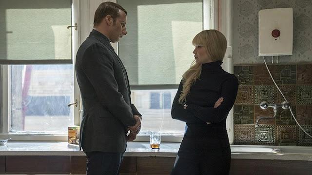 Ivan Egorov (Matthias Schoenaerts) et Dominika Egorova (Jennifer Lawrence) dans Red Sparrow