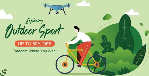Promoção de desporto outdoor na Tomtop