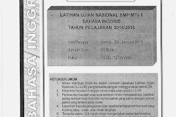 SOAL TPM BAHASA INGGRIS KABUPATEN SLEMAN 2015 (Paket 46-50)
