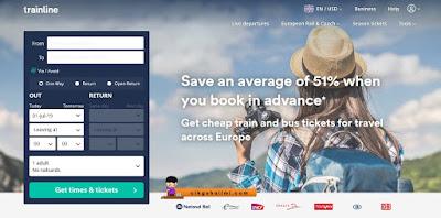 Booking tren dari Paris ke Geneva guna Trainline.com