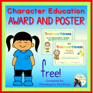 https://www.teacherspayteachers.com/Product/Character-Education-Award-and-Poster-FREE-2044210