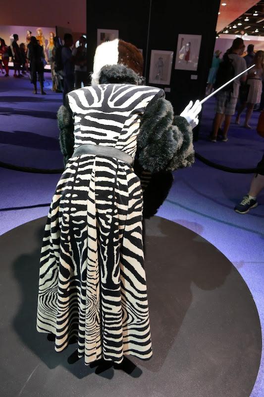 Cruella de Vil 101 Dalmatians zebra costume back