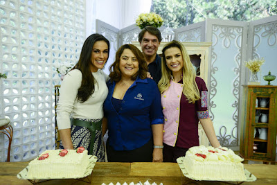 Nadja, Cleusa Maria, Olivier e Beca (Crédito: Zé Paulo Cardeal/SBT)