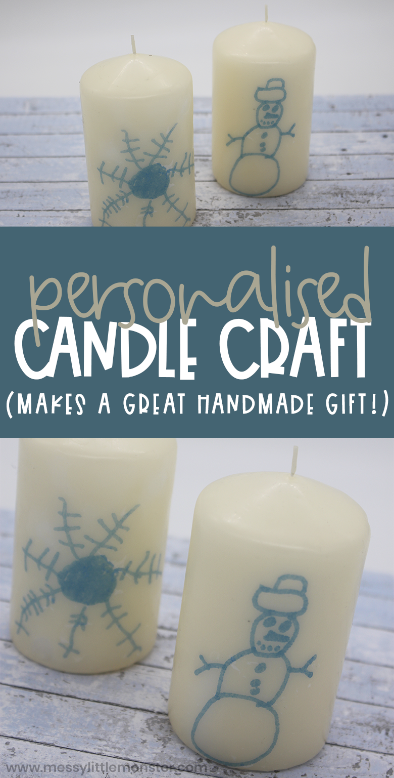 How to make personalised candles with picture on them. Candle artwork.