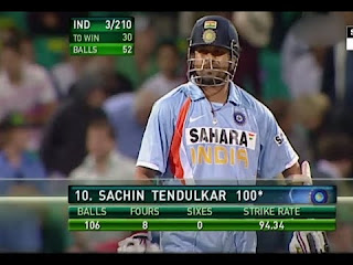 Sachin Tendulkar 117* vs Australia | 42nd ODI Hundred Highlights