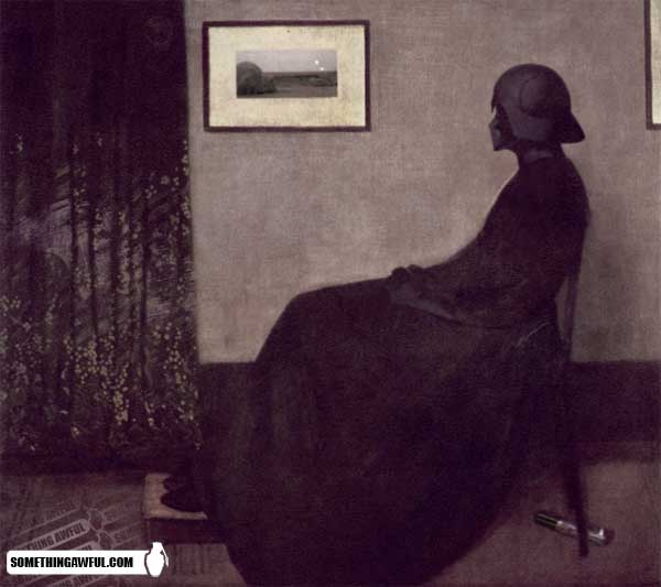 parody of Whistler's Mother with Darth Vader in place of the woman