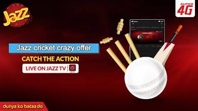 Jazz cricket crazy offer Enjoy free Tv