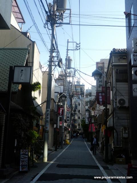 calles barrio geishas en Tokio Kagurazaka