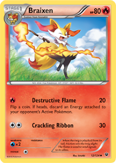 Braixen Fates Collide Pokemon Card