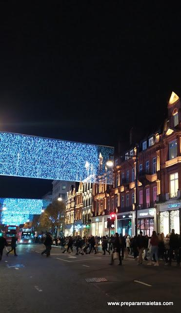 oxford street en Navidad Londres