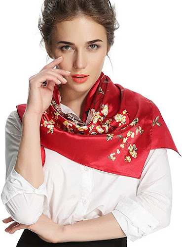 Beautiful Red Satin Scarves