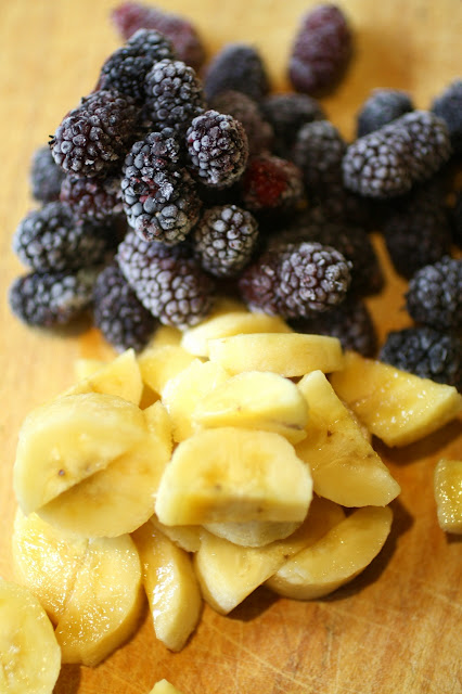 mulberries and bananas