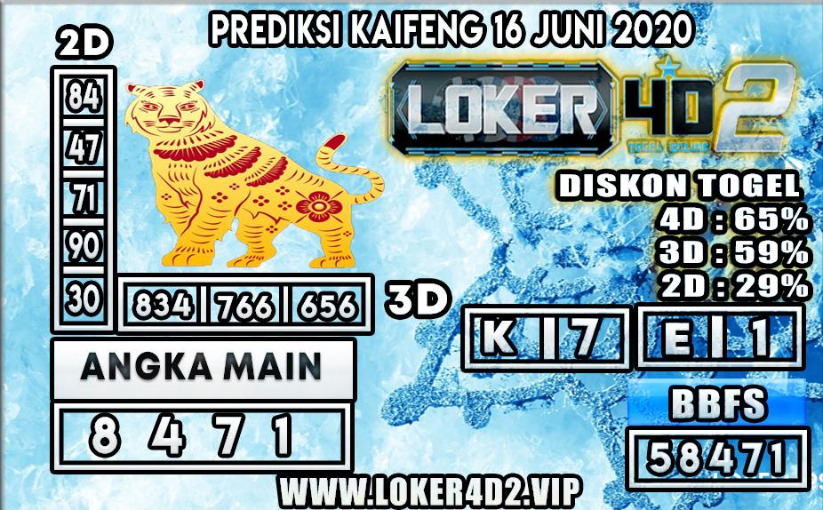 PREDIKSI TOGEL KAIFENG LOKER4D2 16 JUNI 2020